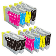 10 Pack Printer Ink Set use for LC51 Brother All-In-One MFC 240C 3360C 5460CN
