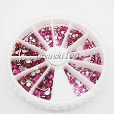 1800 Rhinestone Rueda De Diamante Cristal Gemas Nail Art Tarjetas 3d consejos de decoración