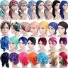 Musim Turban Hijab Hat Cancer Chemo Indian Head Hair Loss Caps Wrap Islamic Arab