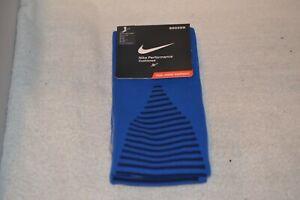 Nike Blue Soccer Socks Medium Team Matchfit Core OTC Striped Calf  800265-463