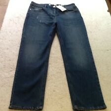 JEANS-NEXT-SIZE 14=W32inxL29-DENIM BLUE-BUTT FASTEN-ANKLE STRAIT-HIGH RISE-BNWT