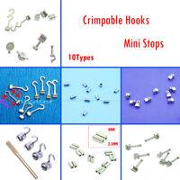 10 Type Dental Orthodontic Crimpable Hook Sliding/Spiral Cross/Double Tube Stops