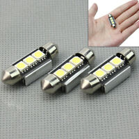 3 x 36mm 5W 12V CANBUS NO ERROR 3 LED SMD Lámpara Bombilla Interior Para Coche