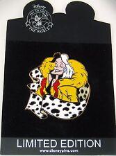 Rare Le 125 Disney Pin✿Cruella DeVil Diva 101 Dalmatians Dog Evil Villain Puppy
