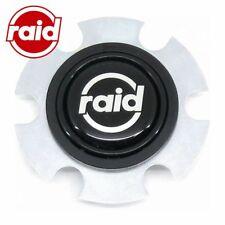 Hupenknopf silber/schwarz für RAID Sportlenkrad - flach versenkt - Lenkrad Hupe