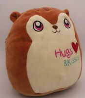 "Squishmallows Nic The Squirrel 8"" Plush Stuffed Animal Kellytoy Brown Valentine"