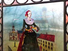 altes Glasmalerei Augsburger Geschlechter Bleiglasfenster Renaissance Tracht
