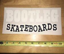 BOOTLEG Skateboards Sticker Vintage Skate Baker 3g Birdhouse Nos Vans