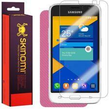 Skinomi Pink Carbon Fiber Skin & Screen Protector for Samsung Galaxy Express 3
