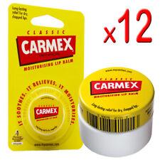 12 x Carmex - Original Classic Moisturising Lip Balm For Dry & Chapped Lips 7.5g
