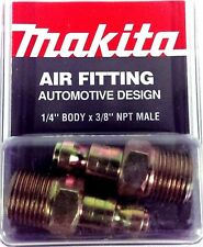"Makita 1/4"" body x 3/8"" NPT M-AUTO Air Fitting YY311009-A 2pk *Made In The USA*"