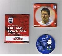 TEXACO World Cup 2006 England football player disc / coin / pog - VARIOUS