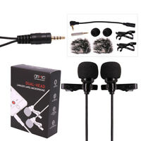 Dual-head Lavalier Microphone, Professional Lapel Clip-on Omnidirectional MIC