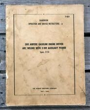 Hobart Gh 3183 S Specs 2150 Military Arc Welder Manual 1953 Service Amp Instruct