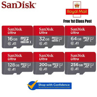 SanDisk Ultra MicroSD TF Memory Card 16GB 32GB 64GB 128GB Class 10 SDHC SDXC C10