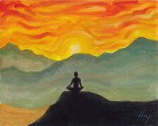 Artisteri / Llop - mini acrílico 'meditación 6' enmarcado 39x35