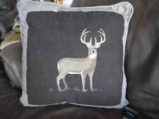 "Donna Sharp Deer Buck Woodland Lodge Cabin Throw Pillow Rustic decor 20"" x 20"""