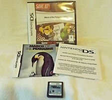 March of the Penguins Nintendo DS 2006 Game Cartridge Manual & * Case