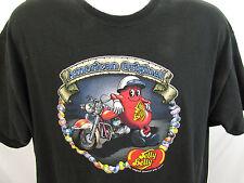 Jelly Belly Motorcycle American Original Black T-shirt Sz XL 46-48 Jelly Beans