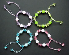 Acrylic Beaded Costume Bracelets without Metal