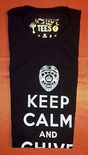 Authentic Black Police Keep Calm and Chive On Tee - KCCO - Size Large