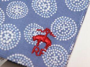 NWT $29 BROOKS BROTHERS Mens Blue White Geometric Dandelion Cotton Pocket Square