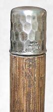 Vintage Antique ForgeSterling Silver Lion Maker Swagger Knob Walking Stick Cane