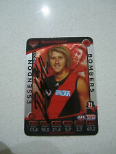 ESSENDON BOMBERS - DYSON HEPPELL SIGNED AFL 2012 TEAMCOACH SILVER CARD