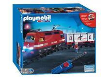PLAYMOBIL® 4010 Train Loco RC + Wagon + Figurines + Rails = BOX ☆ NEU NEUF☆L1☆1E