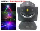 3in1 Beam Laser Strobe led football moving head stage effect light dj lighting