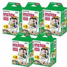 100 Prints Fujifilm instax Mini Film for Fuji 25 50s 7s, 8, 90 & 300 Mini Camera