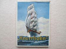 KNURRHAHN Seemannslieder und Shanties des Lotsengesangvereins 1952 CURT MAHR