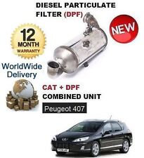 FOR PEUGEOT 407 1.6HDI 2004-> DIESEL PARTICULATE DPF & CAT CATALYTIC FILTER KIT