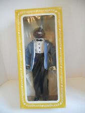 """LOUIS ARMSTRONG """"SATCHMO"""" 15"""" VINYL DOLL, EFFANBEE, WITH ORIGINAL BOX 1984!"""