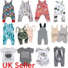 UK Newborn Infant Baby Boy Girl Summer Clothes Bodysuit Romper Jumpsuit Outfits