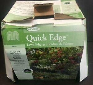 "Suncast Quick Edge Lawn Edging QE20 40 Pieces 6"" Resin Sections"