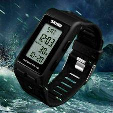 Men's Women's Watch Sports Bracelet LED Pedometer Calories Waterproof Outdoor BK