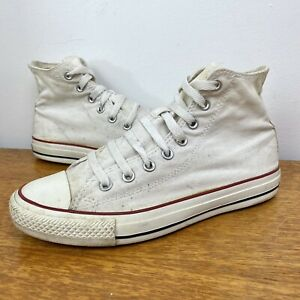 White Converse All Star High Tops - Size 7 - Used