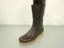 NEU MIU MIU Luxus Leder Stiefelette Gr.39,5 Schuhe Leather Boots Braun