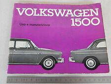 MANUALE ORIGINALE VOLKSWAGEN 1500 1963 USO MANUTENZIONE VW 311 314 361 364