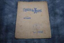 CHANSON DES HEURES REPERTOIRE MERCADIER / XAVIER PRIVAS / PARTITION MANUSCRITE