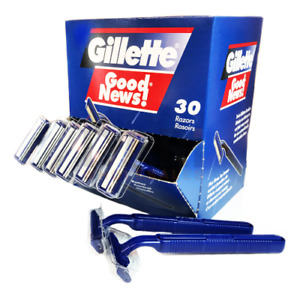 Gillette Good News 30 Disposable Razors / Rasoirs Twin Blades NEW FAST SHIP