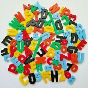 Vintage Letter & Number Magnets Lot: 100+ Various Colors & Sizes Child Guidance
