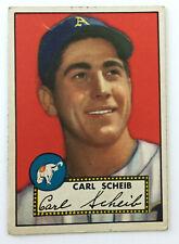1952 Topps Baseball Card • Carl Scheib • #116