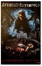 AVENGED SEVENFOLD Nightmare Ltd Ed RARE Tour Poster +FREE Metal Poster Stage A7X