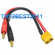 XT60 Female to 4mm Banana Bullet CONNECTORS CHARGER POWER SUPPLY LEAD