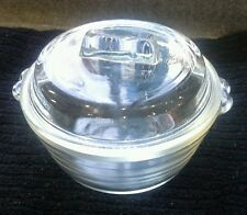 VINTAGE PHEONIX GLASS SMALL LIDDED DISH