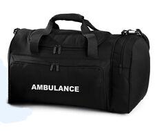 1 x AMBULANCE Black Holdall/Work Bag Paramedic First Responder Medic St John