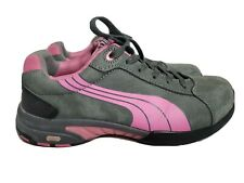Puma Safety ASTM F2413-11 Pink Gray Athletic Shoes Women's Size 8
