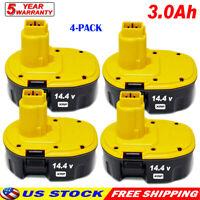 4x NEW for Dewalt 3.0Ah 14.4 Volt XRP Battery DC9091 DW9091 DE9091 DE9038 Ni-CD